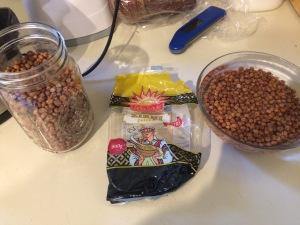 A bag of grey peas, from BalticShop.com.